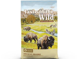 Taste of the Wild Ancient Prairie with Roasted Bison  Roasted Venison and Ancient Grains Dry Dog Food  14 lbs