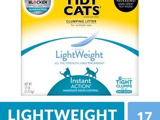 Purina Tidy Cats light Weight  low Dust  Clumping Cat litter  lightWeight Instant Action Multi Cat litter   17 lb  Box