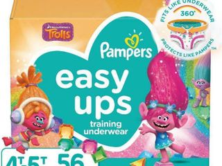 Pampers Easy Ups Girls Training Pants Super Pack   Size 4T 5T   56ct