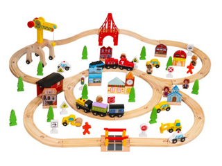 100pcs Wooden Train Set   learning Toy