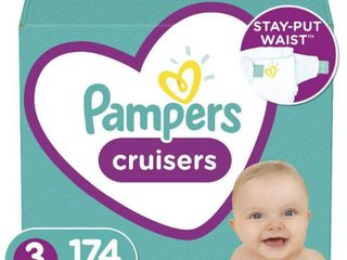 Pampers Cruisers Disposable Diapers One Month Supply   Size 3  174ct