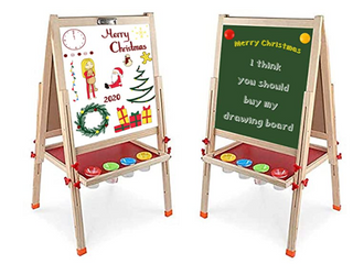 Arkmiido   Kids Art Easel U Stand   Magnetic letters and Numbers