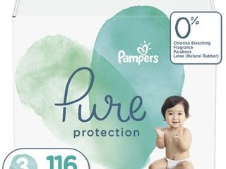 Pampers Pure Protection Disposable Diapers Enormous Pack   Size 3   104ct