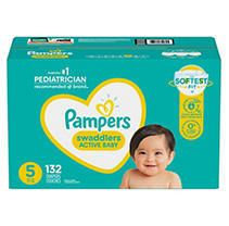 Pampers Swaddlers Disposable Diapers One Month Supply   Size 5  132ct