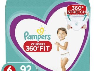 Pampers Cruisers 360 Disposable Diapers One Month Supply   Size 6  92ct