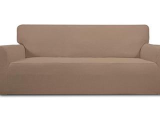 Easy  Going Sofa  Stretch Slipcovers  Camel