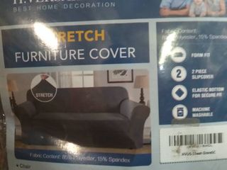 H  Versailtex  Stretch Furniture Cover  Chair  Gray  Fabric Content  85  Polyester  15  Spandex
