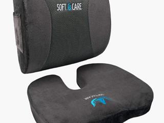 Soft A Care  Seat Cushion  Dark Gray  Set Of 2
