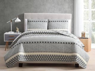 MHF Home Noreen 3 piece Quilt Set