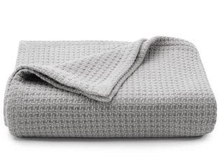 Tommy Bahama Bahama Coast Cotton Blanket  Size King   Grey