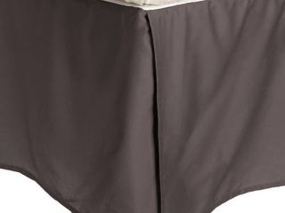 100  Brushed Microfiber Bed Skirt  Twin Xl  Charcoal  Wrinkl