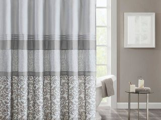 510 Design Ramsey 72  x 72  Printed and Embroidered Shower Curtain Bedding