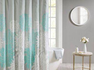 Calla Printed Floral Shower Curtain Aqua
