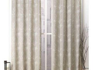 Set of 2 84 x52  Turion Grommet Top Room Darkening Curtain Panel linen   Nicole Miller