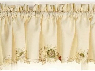 lorraine Home Fashions Sunflower Tailored Valance  60 by 12 Inch  Multi Color  Set Of 2