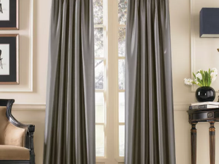 108 x30  Marquee lined Room Darkening Curtain Panel Gray   Curtainworks   Set of two