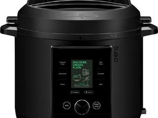 CHEF iQ 6qt Multi Function Smart Pressure Cooker with Built in Scale  Pairs With App Via WiFi   Black
