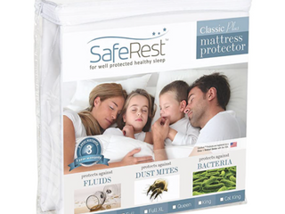 King Size SafeRest Classic P   Protector Vinyl Free New