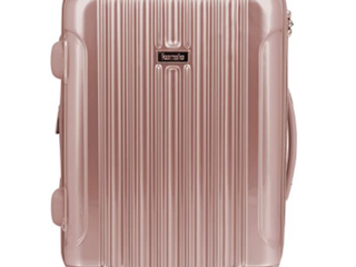Kensie   20  Rolling Carry On   Rose Gold