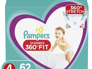 Pampers Cruisers 360 Disposable Diapers Super Pack   Size 4  62ct