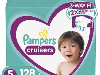 Pampers Cruisers Active Fit Taped Diapers  Size 5  128 Ct