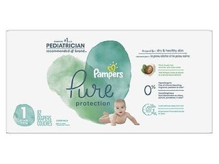 Pampers Pure Protection Diapers Super Pack   Size 1   74ct