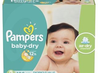 Pampers Baby Dry Extra Protection Diapers  Size 2  186 Ct