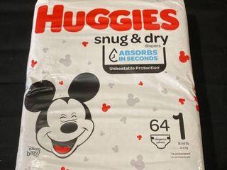 Huggies Snug   Dry Baby Disney Size 1 8 14lbs Pack of 64