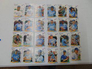 lot of KC Royals Baseball Cards