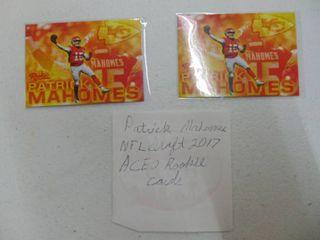 A set of 2 Patrick Mahomes Cards