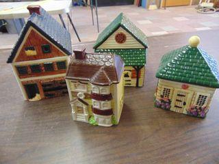 4 Piece Set of Building Cookie Jars
