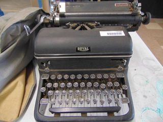 Royal Typewriter with Dust Cover
