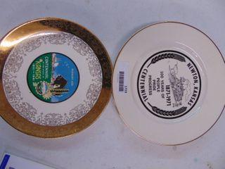 A set of 2 Kansas Glass Plates
