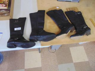 2 pair women s boots size 7 1 2 pleather
