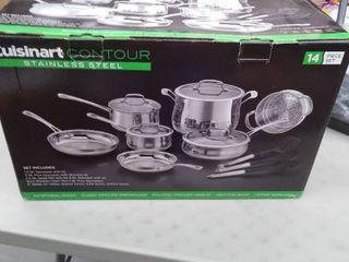 Cuisinart 14 Piece Classic Stainless Steel Cookware Set