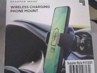 Wireless charging phone mount