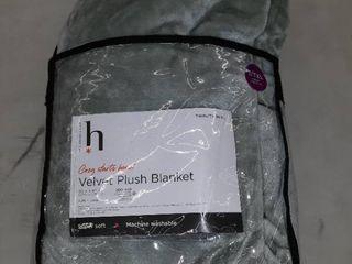 Green Velvet Plush Blanket