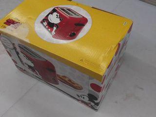 Disney Mickey Mouse 2 Slice Toaster