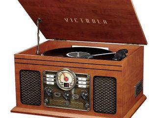 Victrola   Bluetooth Stereo Audio System   Mahogany