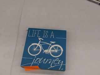 life s a journey wood sign