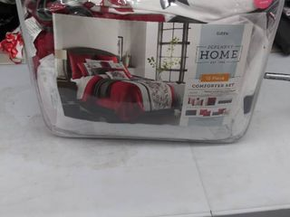 10 piece comforter set Queen  NOT FUllY INSPECTED