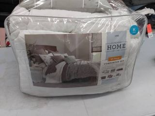 10 piece comforter set  king  NOT FUllY INSPECTED