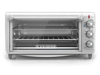 BlACK DECKER Extra Wide Crisp N Bake Air Fry Toaster Oven  Silver  TO3265XSSD