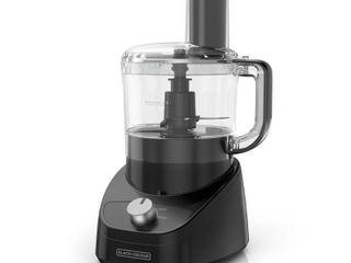 BlACK DECKER 8  Cup Black Easy Assembly Food Processor