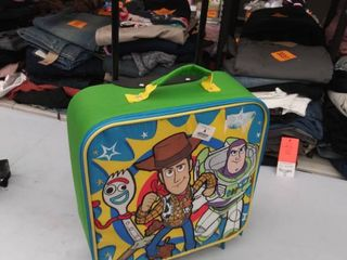 toy story luggage  small stain on back  adhesive on front from sticker