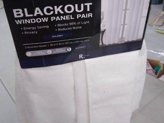 Blackout window panel pair 38 in x 84 in