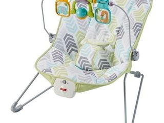 Fisher Price Baby Bouncer with Removable Toy Bar  Green