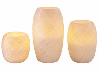 Apothecary led Candles Everyday Core 3 pc
