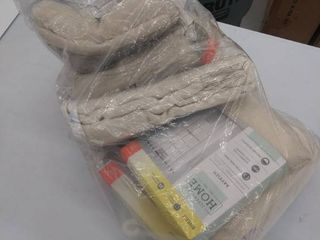 bag of ivory curtains  packages say 50 x84