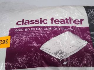 Classic feather king pillow